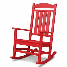 Shop POLYWOOD Presidential Sunset Red Plastic Rocking ...