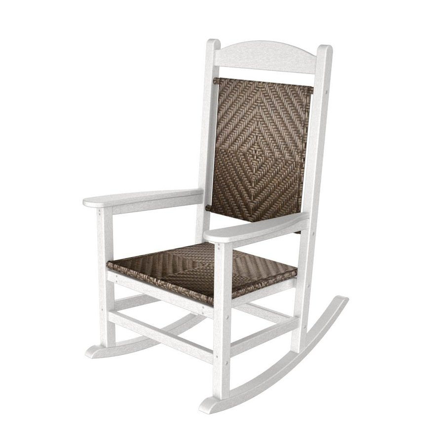 ... Cahaba Recycled Plastic Woven Seat Outdoor Rocking Chair at Lowes.com