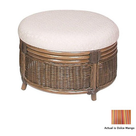 Hospitality Rattan Legacy Antique Round Ottoman