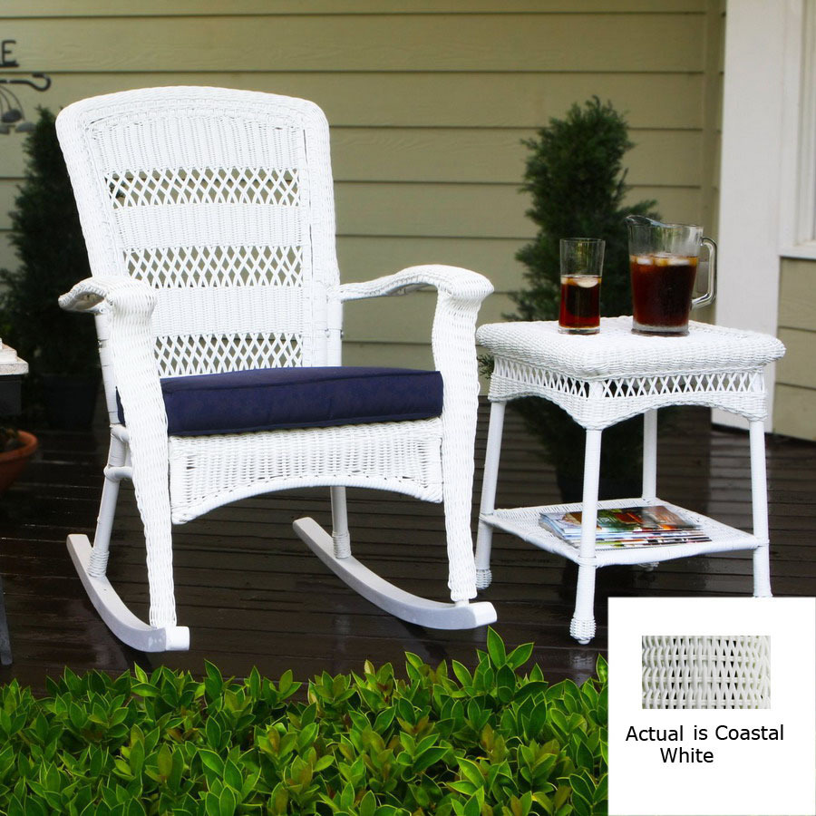 Shop tortuga outdoor costal white all weather wicker for All weather garden chairs