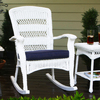 Tortuga Outdoor Costal White Outdoor Rocking Chair