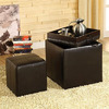 Furniture of America Littleton Espresso Square Ottoman