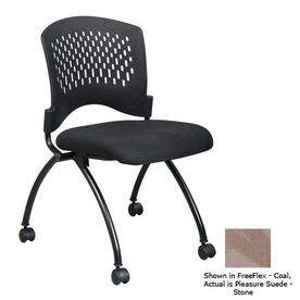 Office Star Set of 2 Proline II Pleasure Suede Stone Folding Office Chair