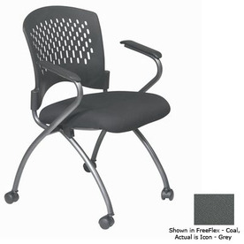 Office Star Set of 2 Proline II Icon Grey Task Folding Office Chairs