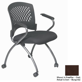 Office Star Set of 2 Proline II Icon Burgundy Task Folding Office Chairs