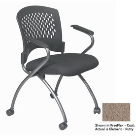 Office Star Set of 2 Proline II Element Putty Task Folding Office Chairs
