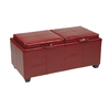 Office Star Osp Designs Metro Crimson Red Rectangle Storage Ottoman