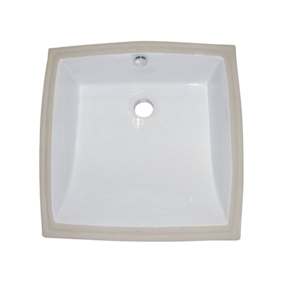 Shop elements of design cove white undermount square for Bathroom undermount sinks