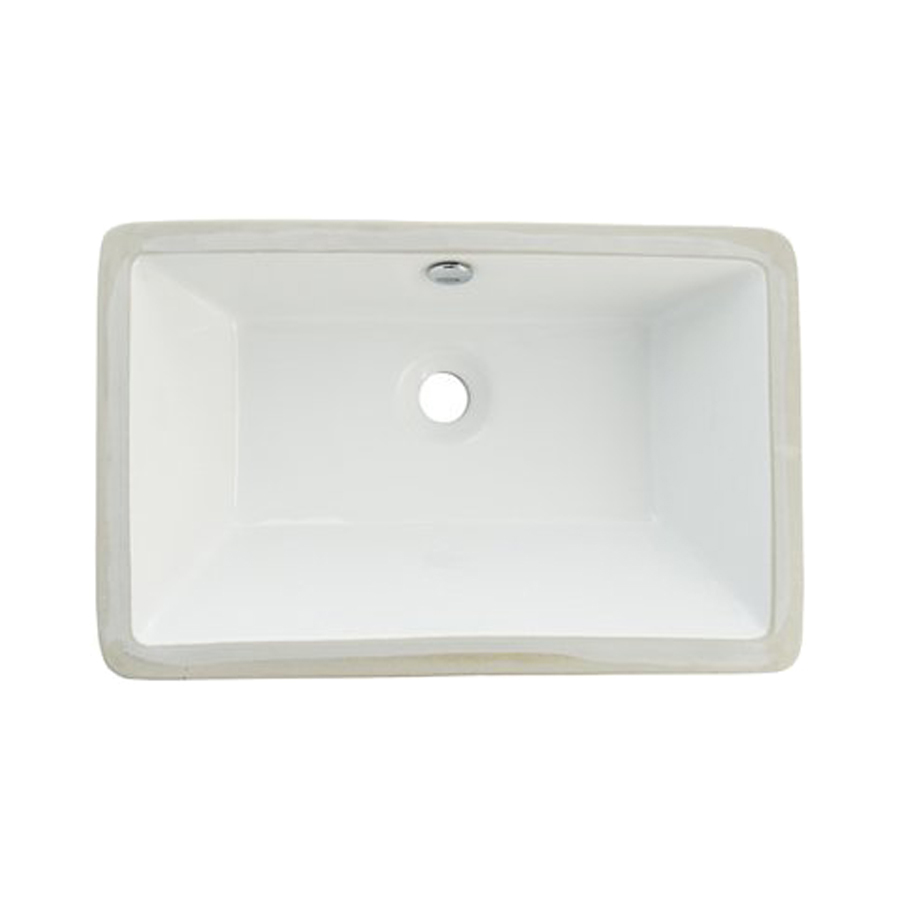 Rectangular Bathroom Sinks Undermount : ... China Undermount Rectangular Bathroom Sink with Overflow at Lowes.com