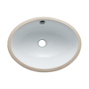 Elements of Design Marina White Undermount Oval Bathroom Sink with Overflow