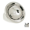 WS Bath Collections Metal Shiny Chrome Copper Round Bathroom Sink with Overflow
