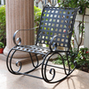 International Caravan Antique Black/Silver Outdoor Rocking Chair