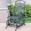 International Caravan Antique Black Porch Glider