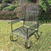 International Caravan Antique Black Outdoor Rocking Chair