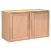 Project Source 36-in W x 15-in H x 12-in D Unfinished Brown Oak Door Wall Cabinet