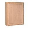 Project Source 24-in W x 30-in H x 12-in D Unfinished Brown Oak Single Door Kitchen Wall Cabinet