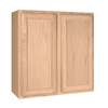 Project Source 30-in W x 30-in H x 12-in D Unfinished Brown Oak Door Wall Cabinet