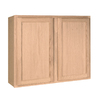 Project Source 36-in W x 30-in H x 12-in D Unfinished Brown Oak Door Wall Cabinet