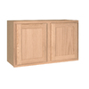 Project Source 30-in W x 18-in H x 12-in D Unfinished Brown Oak Door Wall Cabinet