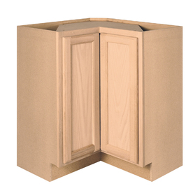 Project Source 36-in W x 34.5-in H x 15-in D Unfinished Brown Oak Lazy Susan Base Cabinet