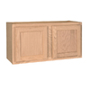 Project Source 30-in W x 12-in H x 12-in D Unfinished Brown Oak Door Wall Cabinet