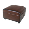 International Caravan Brown Square Storage Ottoman