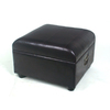 International Caravan Black Rectangular Ottoman