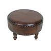 International Caravan Brown Round Ottoman