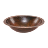 Premier Copper Products Oil-Rubbed Bronze Copper Undermount Oval Bathroom Sink