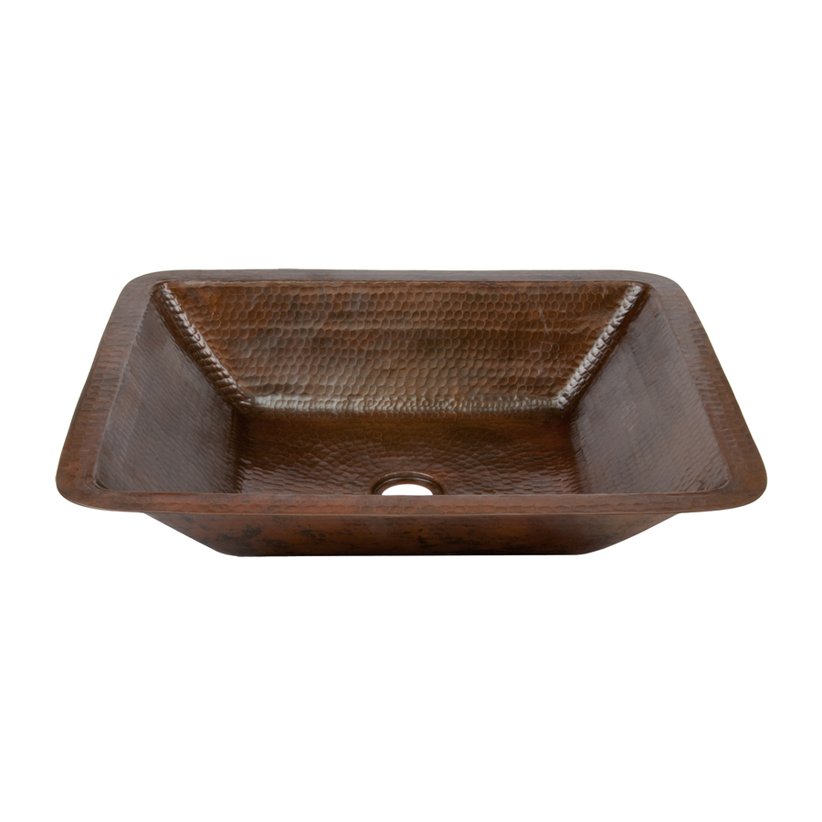 Rubbed Bronze Copper Undermount Rectangular Bathroom Sink At
