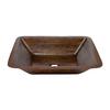 Premier Copper Products Oil-Rubbed Bronze Copper Undermount Rectangular Bathroom Sink