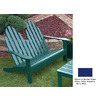 Prairie Leisure Design 35-in W x 50-in L Berry Blue Patio Bench