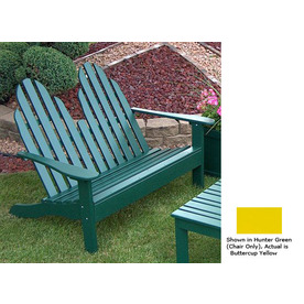 Prairie Leisure Design 35-in W x 50-in L Buttercup Yellow Patio Bench