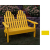 Prairie Leisure Design 28-in W x 52-in L Buttercup Yellow Patio Bench