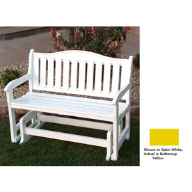 Prairie Leisure Design 34-in L Painted Wood Patio Bench
