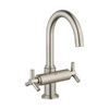 GROHE Atrio Brushed Nickel 2-Handle 4-in Centerset Bathroom Sink Faucet (Drain Included)