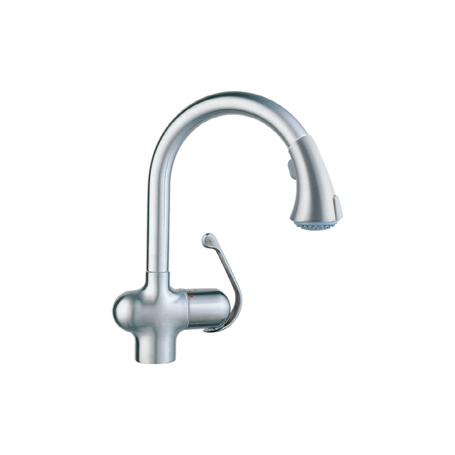 Shop Grohe Ladylux Cafe Stainless Steel Pull Down Kitchen Faucet At