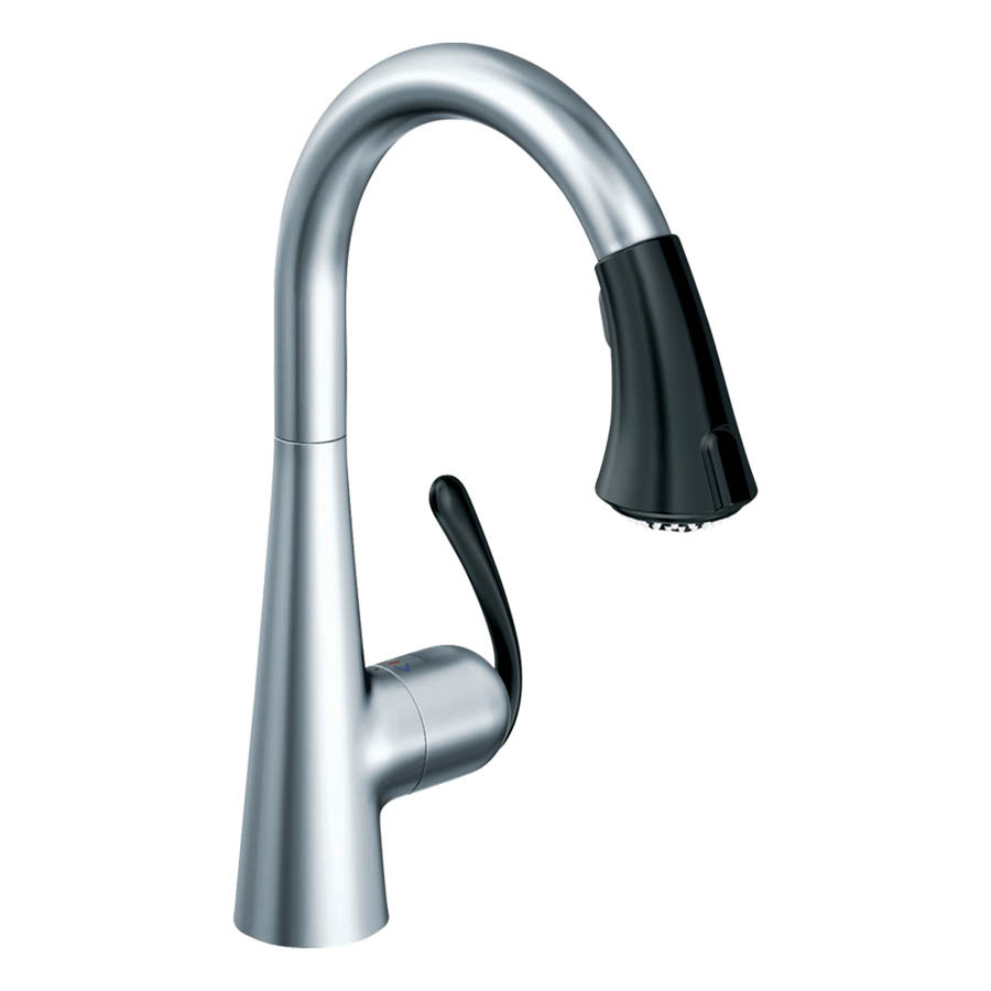 shop grohe ladylux stainless steel pull down kitchen