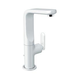 GROHE Ondus Veris Moon White 1-Handle Single Hole/4-in Centerset WaterSense Bathroom Sink Faucet (Drain Included)