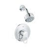 GROHE Baucosmopolitan Starlight Chrome 1-Handle Shower Faucet Trim Kit with Multi-Function Showerhead