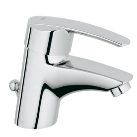 GROHE Start Starlight Chrome 1-Handle Single Hole Bathroom Faucet (Drain Included)