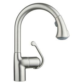 GROHE Zedra Supersteel Infinity Finish 1-Handle Pull-Down Kitchen Faucet