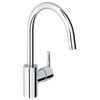 GROHE Feel Starlight Chrome 1-Handle Pull-Down Kitchen Faucet