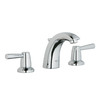 GROHE Arden Starlight Chrome 2-Handle Widespread Bathroom Sink Faucet (Drain Included)