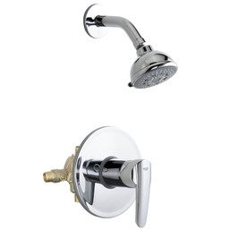 GROHE Start Starlight Chrome 1-Handle Shower Faucet with Multi-Function Showerhead
