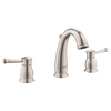 GROHE Wexford Brushed Nickel 2-Handle Widespread WaterSense Bathroom Sink Faucet (Drain Included)
