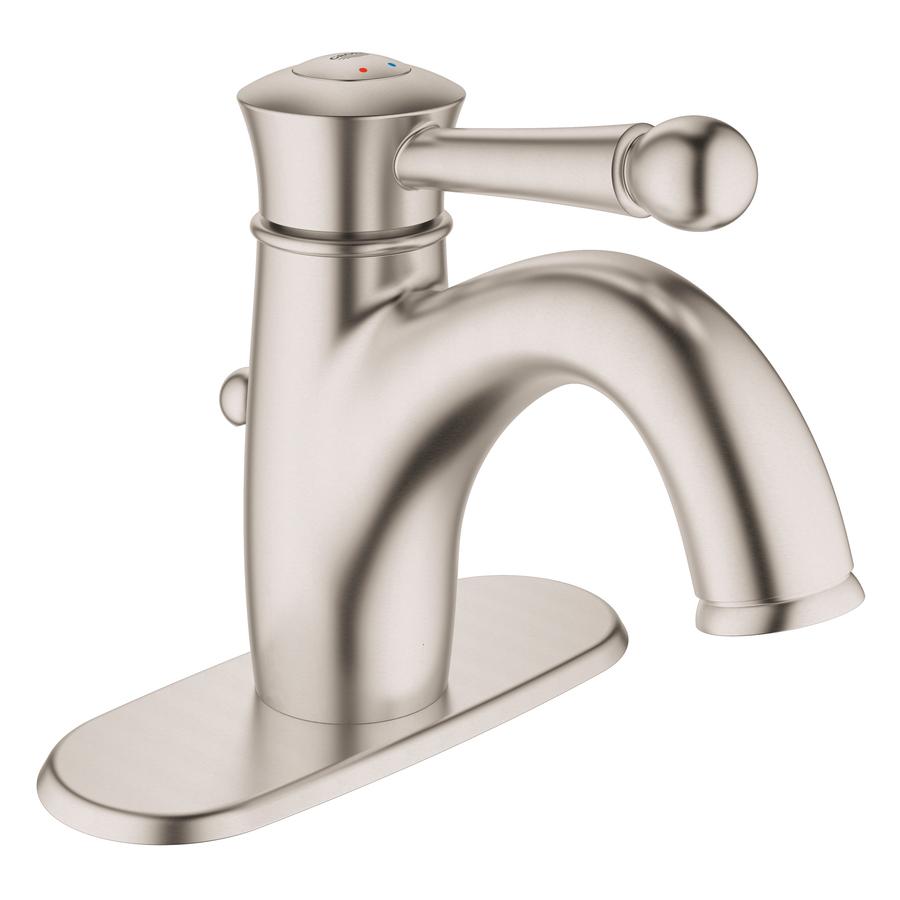 Shop Grohe Wexford Brushed Nickel 1 Handle Single Hole 4 In Centerset Watersense Bathroom Sink