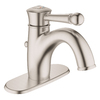 GROHE Wexford Brushed Nickel 1-Handle Single Hole/4-in Centerset WaterSense Bathroom Sink Faucet (Drain Included)