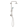 GROHE Retrofit 6.312-in Brushed Nickel Showerhead with Hand Shower