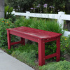 Shine Company 18.25-in L Painted Wood Patio Bench
